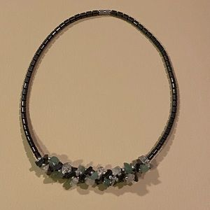 Gently used choker beaded necklace